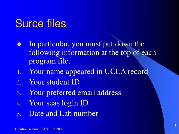 Surce files