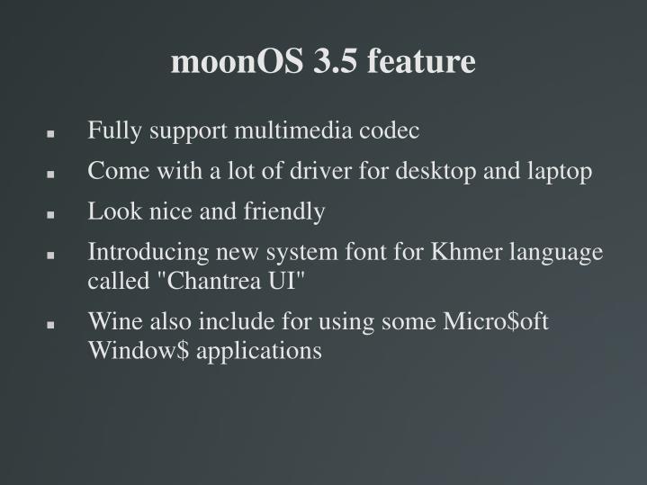 moonOS 3.5 feature
