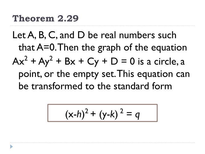 Theorem 2.29