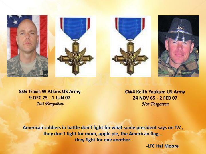 SSG Travis W Atkins US Army