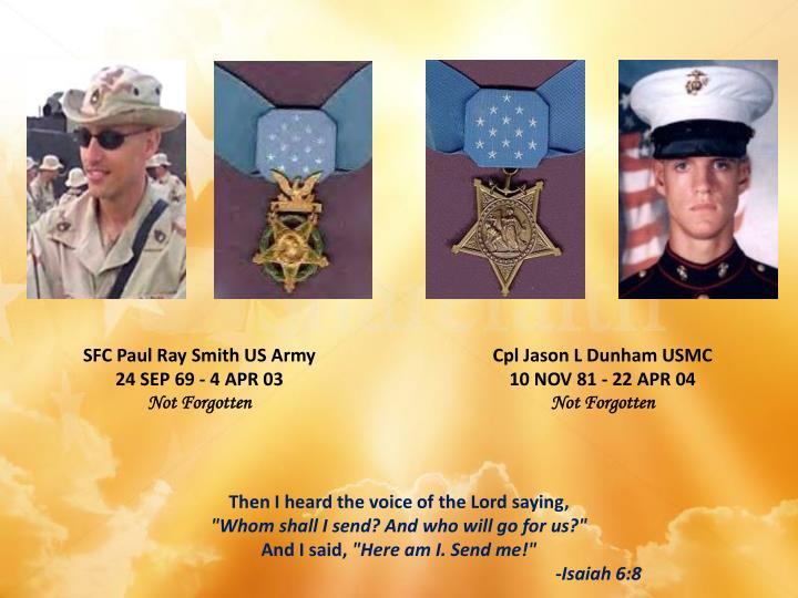 SFC Paul Ray Smith US Army