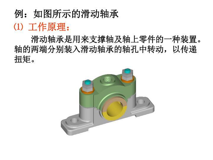 例:如图所示的滑动轴承