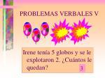 problemas verbales v