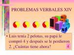 problemas verbales xiv