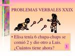 problemas verbales xxix