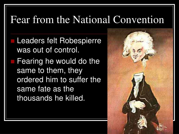 Fear from the National Convention