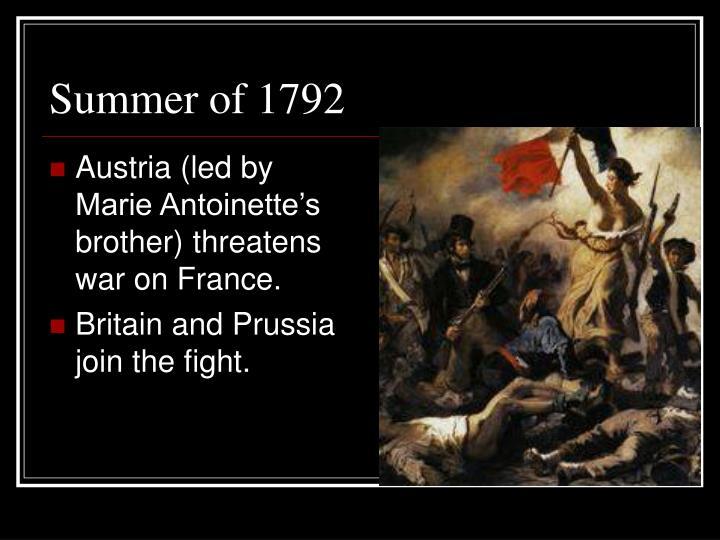 Summer of 1792