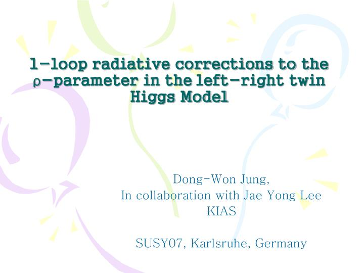 1 loop radiative corrections to the parameter in the left right twin higgs model