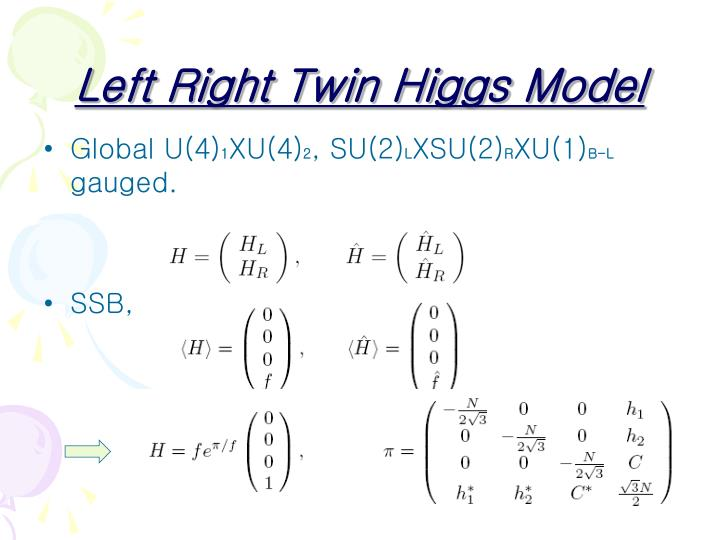 Left Right Twin Higgs Model