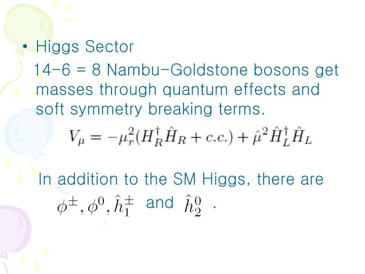 Higgs Sector