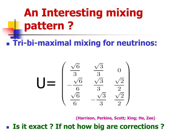 An Interesting mixing pattern ?