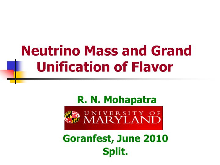 Neutrino mass and grand unification of flavor