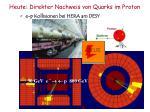 heute direkter nachweis von quarks im proton