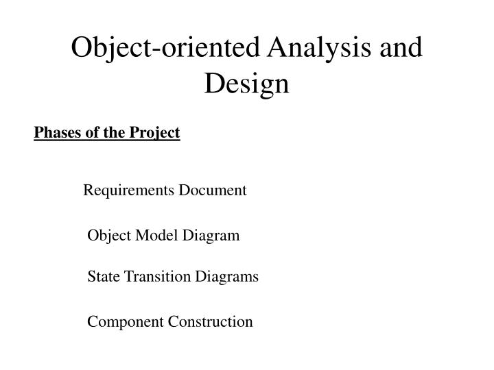 Ppt object oriented analysis and design powerpoint presentation object oriented analysis and design ccuart Gallery