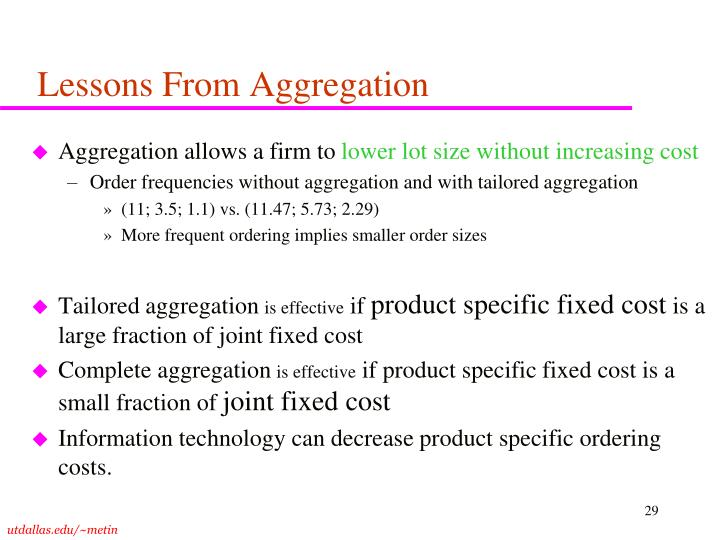 Lessons From Aggregation