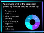 an outward shift of the production possibility frontier may be caused by