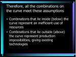 therefore all the combinations on the curve meet these assumptions