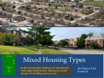 mixed housing types