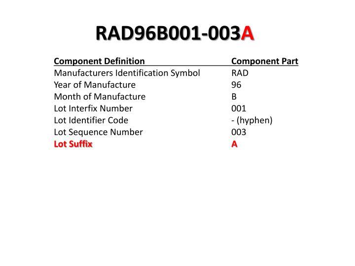 RAD96B001-003