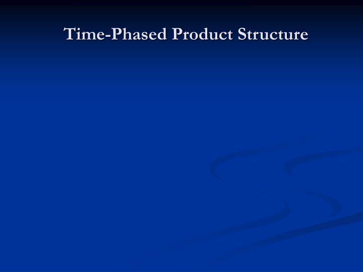 Time-Phased Product Structure