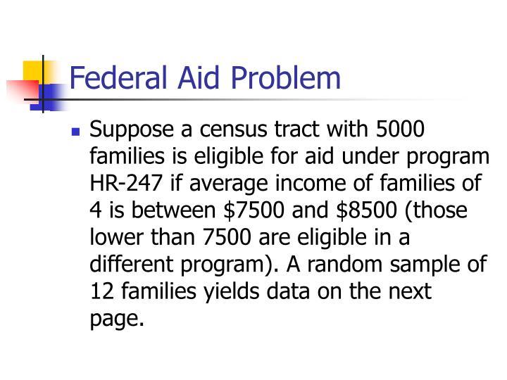 Federal Aid Problem