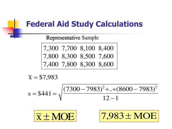 Federal Aid Study Calculations