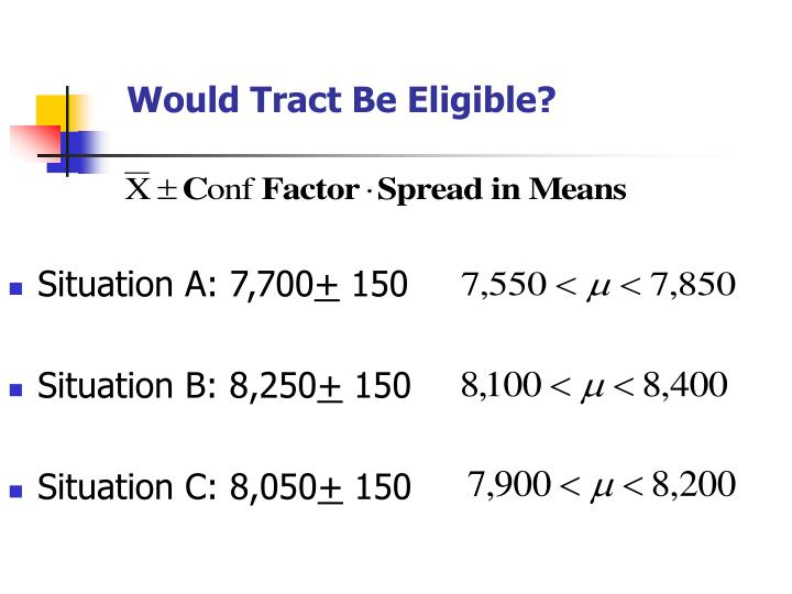 Would Tract Be Eligible?
