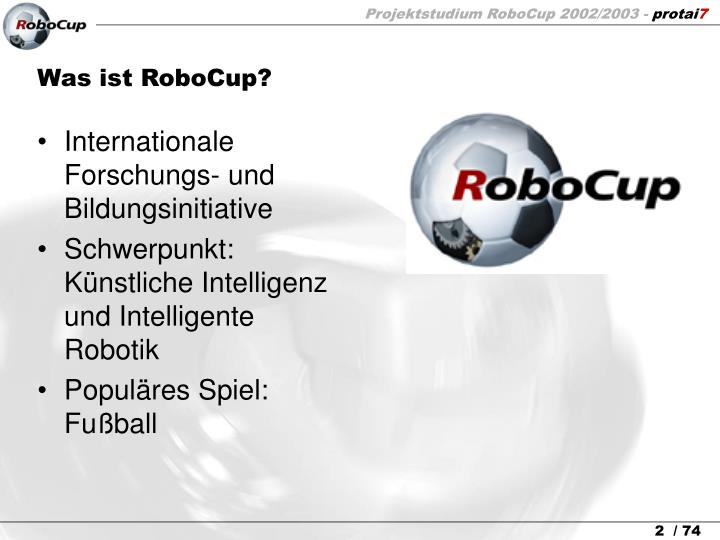Was ist robocup