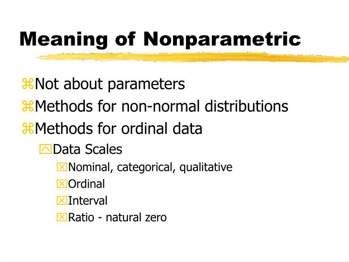 Meaning of nonparametric