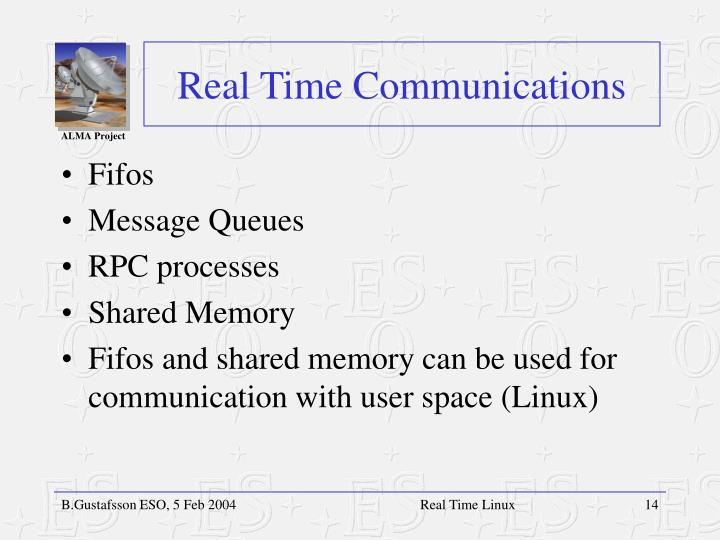 Real Time Communications