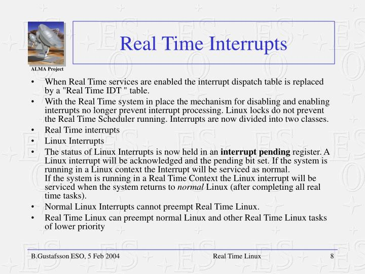 Real Time Interrupts