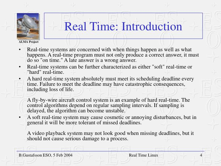 Real Time: Introduction