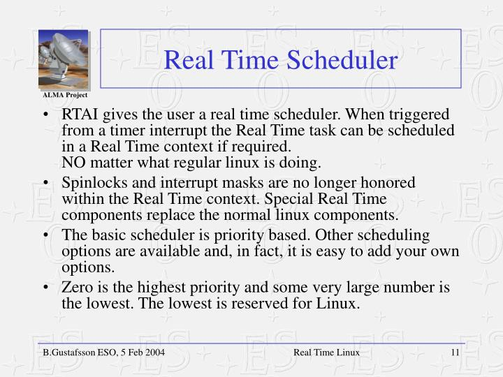 Real Time Scheduler