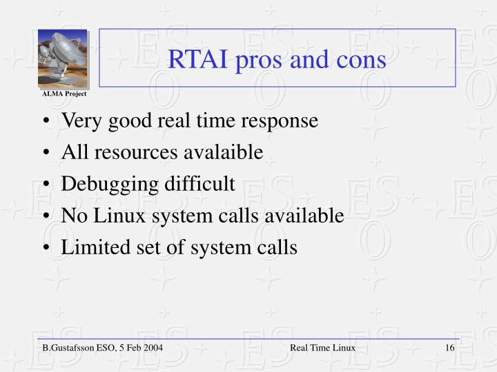 RTAI pros and cons