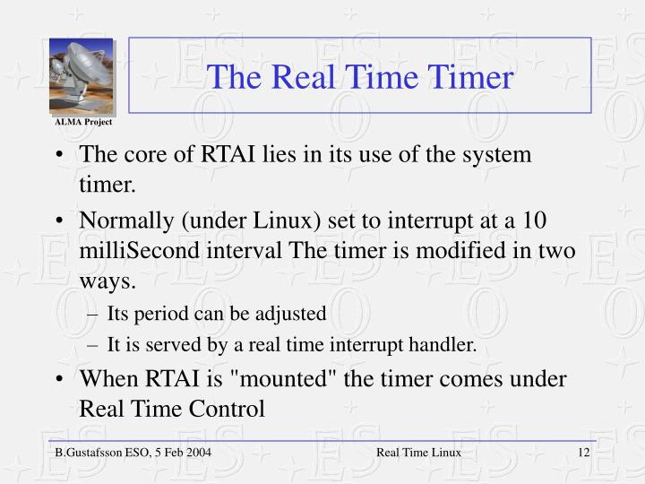 The Real Time Timer
