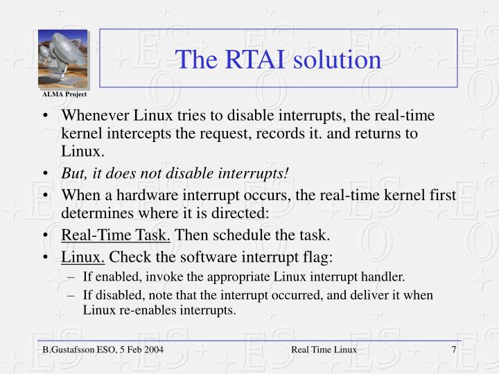 The RTAI solution