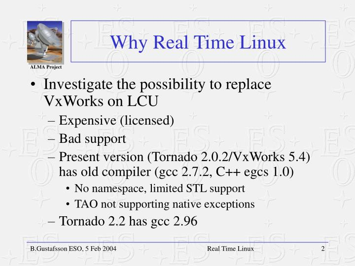 Why real time linux