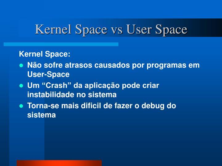 Kernel Space vs User Space