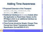 adding time awareness