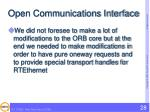 open communications interface4