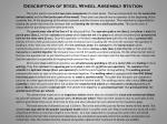 description of steel wheel assembly station