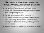 rationale for selecting the steel wheel assembly station