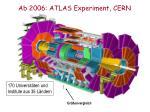 ab 2006 atlas experiment cern