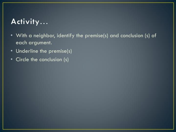 Activity…