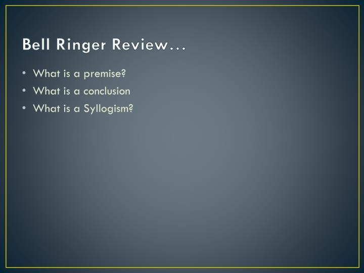 Bell Ringer Review…