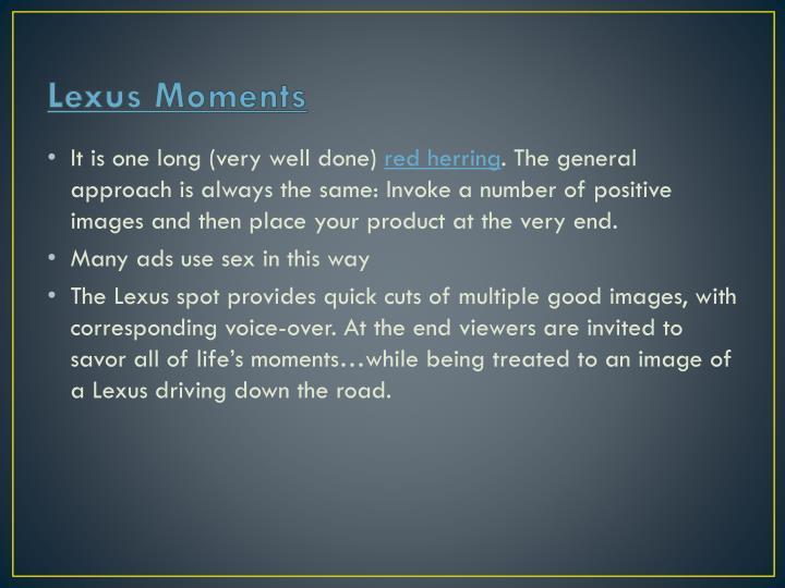 Lexus Moments