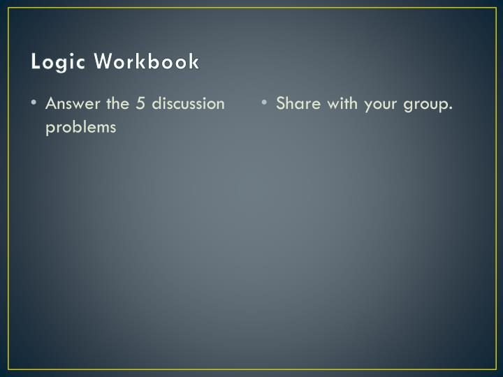 Logic Workbook