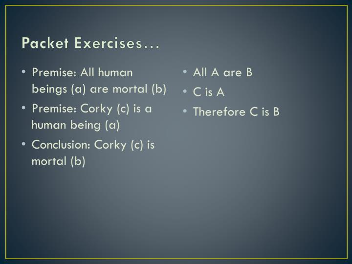 Packet Exercises…