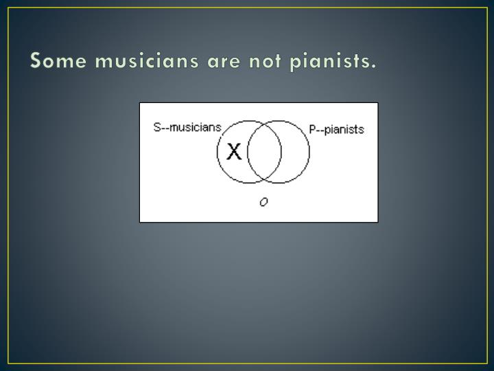 Some musicians are not pianists.