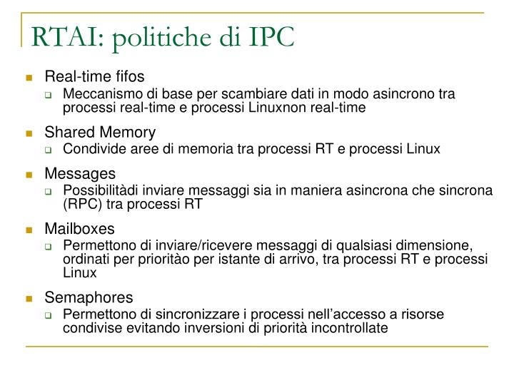 RTAI: politiche di IPC